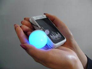 Aura sensing phone strap