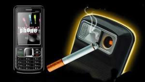 Cigarette lighter phone